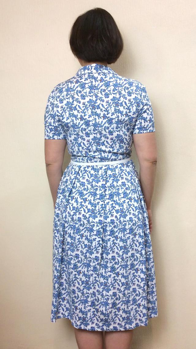 Платье летнее миди с карманами из стрейч-льна П208