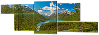 Модульная картина Альпийские луга