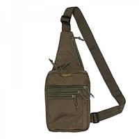 Городская сумка зеленая Tex / сумка через плечо / TEX сумка-кобура наплечная OLIVE