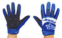 Мотоперчатки текстильные с закрытыми пальцами FOX M-4538-BLW 360