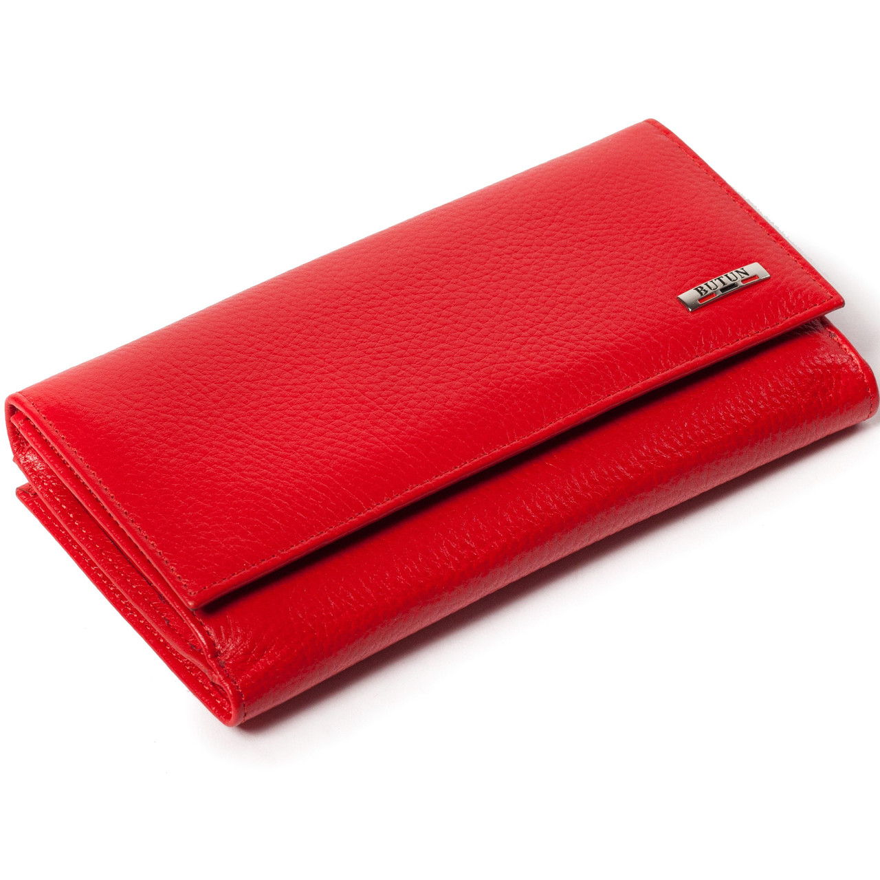 Большой женский кошелек кожаный красный BUTUN 508-004-006
