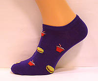 Носки цветные низкие мужские с рисунком синего цвета