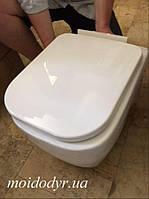 Унитаз подвесной керамический MD с крышкой (белый)