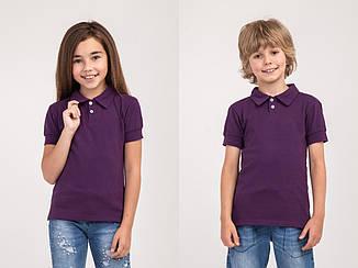 Детское Поло Фиолетовый