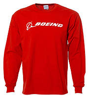 Реглан Boeing Long Slv Signature T-shirt (красный)