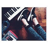 Кроссовки унисекс Nike Roshe Run черный цвет копия