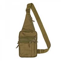 Городская сумка песочная Tex / сумка через плечо / TEX сумка-кобура наплечная COYOTE
