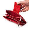 Большой женский кошелек BUTUN 507-006-006 кожаный красный, фото 5