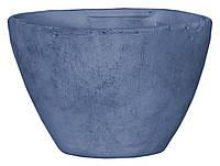 Горшок для цветов из глины 3,1 л. голубой