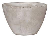 Горшок для цветов из глины 2,1 л. белый