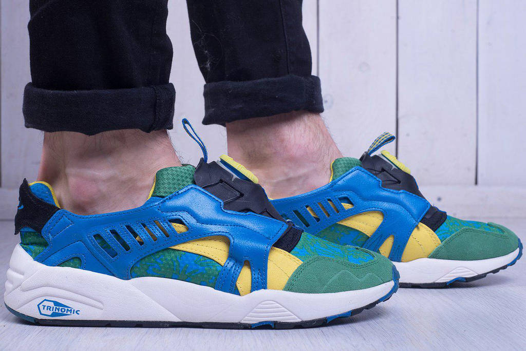 Puma Dics Blaze Tropical Green Yellow French Blue (реплика)