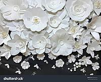 Фотообои 3д бумажные цветы