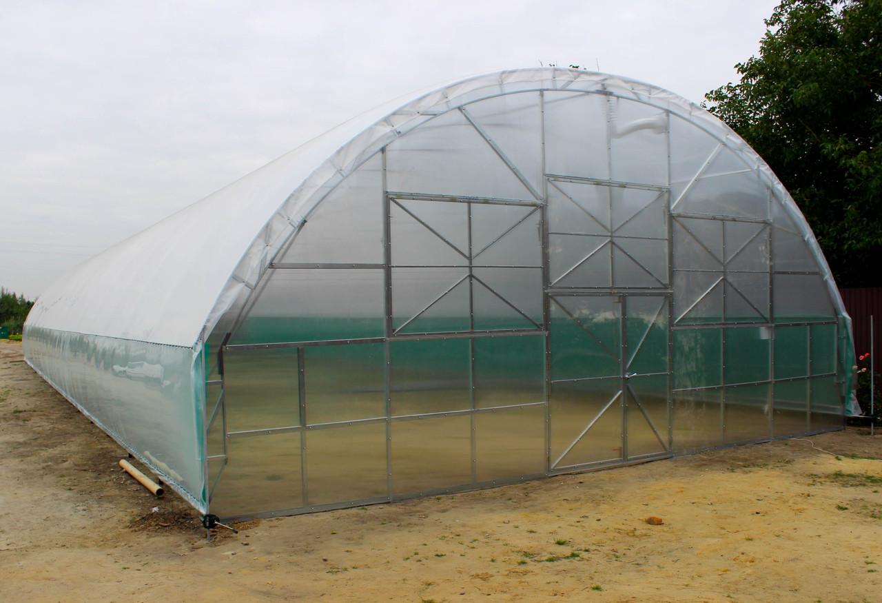 Плотная фермерская теплица под пленку 9,6х60 (шаг 2,5 м) Фермер Профи