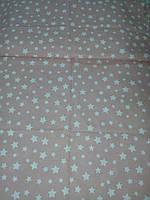 Постельное белье (3 предмета) белые звезды на розовом фоне