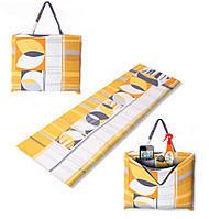 Пляжный коврик-сумка на молнии, в ассортименте 1630х520х9