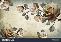Фотообои винтаж розы 3д