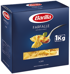 Макарони BARILLA 65 FARFALLЕ бантики, 1кг, 12 шт/ящ