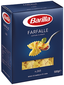 Макарони BARILLA 65 FARFALLE бантики, 500гр (12шт/ящ)