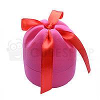 "Футляр для кольца ""Цилиндр с лентой"" розовый"