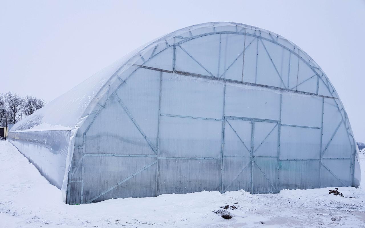 Тунельная фермерская теплица под пленку 9,6х100 (шаг 2,5 м) Фермер Профи