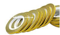 Фольга на липкой основе матовая 3мм золотая