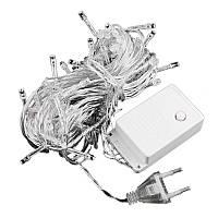 Светодиодная новогодняя электро гирлянда на 100 лампочек LED Белый