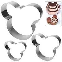 """Кольца для торта """"Микки"""" 3пр/наб"""