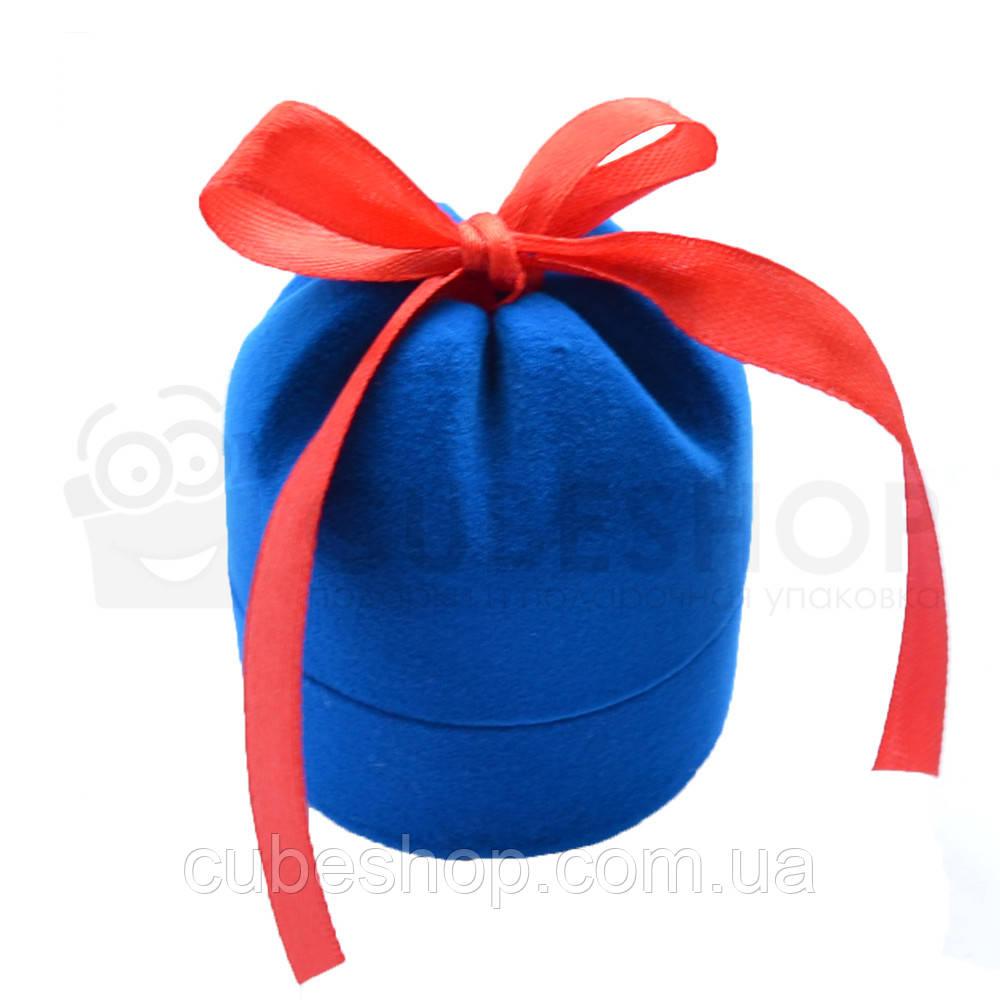 "Футляр для кольца ""Цилиндр с лентой"" голубой"
