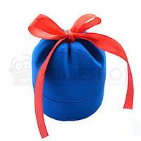 """Футляр для кольца """"Цилиндр с лентой"""" голубой, фото 1"""
