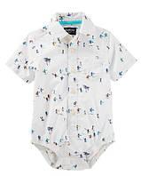 5fde1eef317 Боди-рубашка для мальчика на кроткий рукав