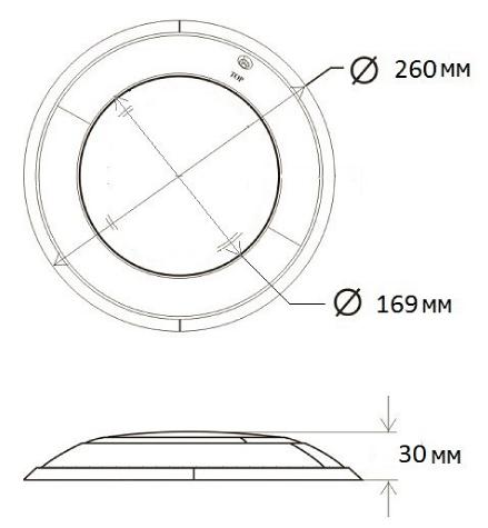 Габаритные размеры светодиодного прожектора Aquaviva HT201S 252LED