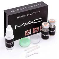 Линзы голубые косметические МАС Sensual Beauty Lens (True Sapphire), фото 1