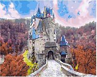 """Раскраска по номерам для взрослых и детей """"Сказочный замок"""", 40х50 см, Без Коробки"""