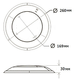 Прожектор светодиодный Aquaviva HT201S 252LED (18 Вт) RGB под бетон / пластик / лайнер, фото 6