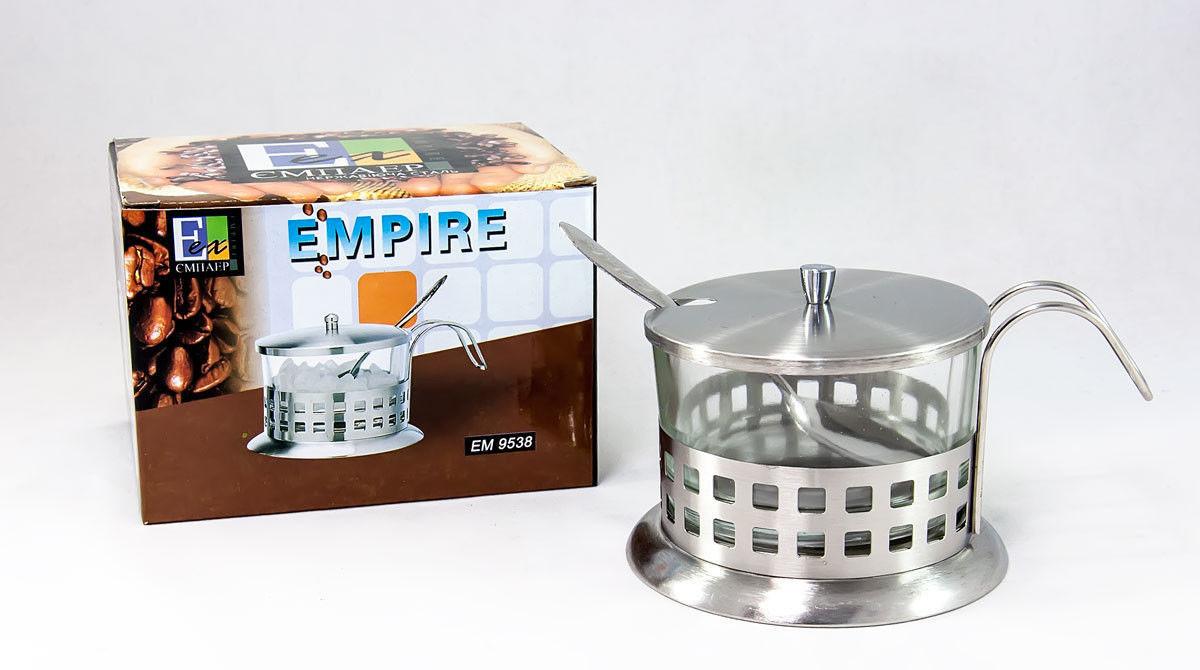 Сахарница стеклянная с ложкой Empire