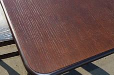 Стол кухонный деревянный Лидер Микс мебель, цвет темный орех / венге-шоколад, фото 3