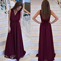 bace2fcaa9b Выпускное (вечернее) женское платье в пол из шифона