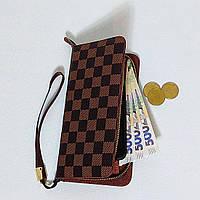 Коричневый клатч, кошелек клетка в стиле Louis Vuitton, луи витон. ed9e2464dae