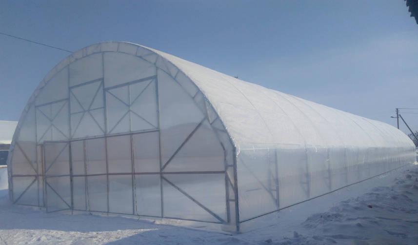 Фермерские теплицы под пленку 9,6Х50 Фермер ПРОФИ -10.2-У (480 м2)