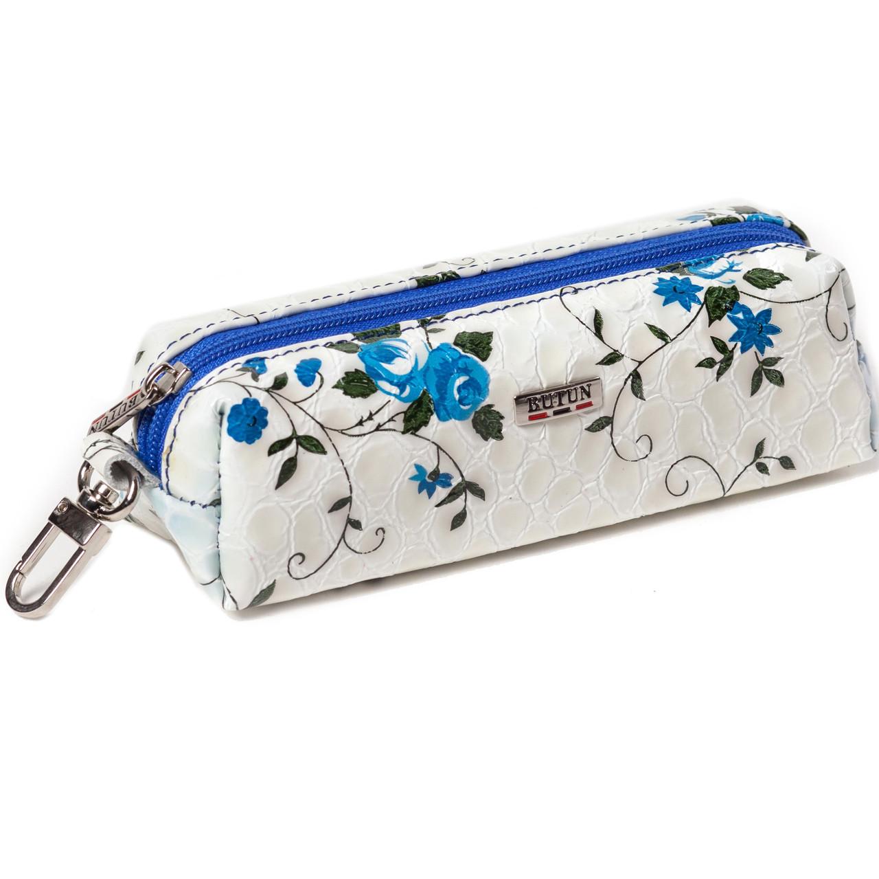 """Ключница кожаная """"синие цветы"""" Butun 784-053-013"""