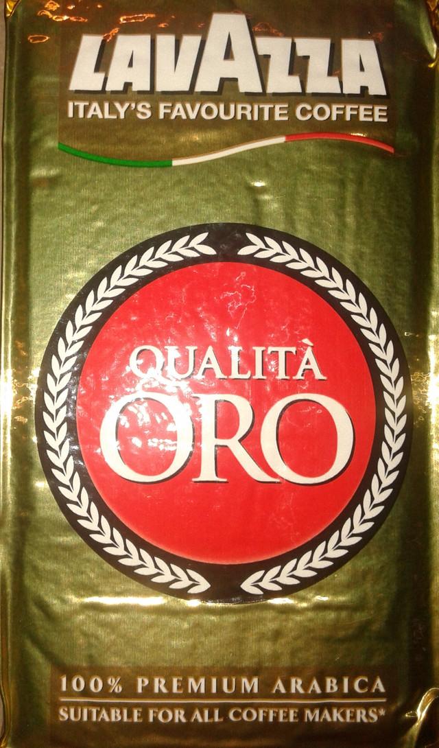 Молотый кофе Lavazza Qualita Oro 250 гр (внутренний рынок Италии)
