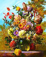 Рисование по номерам цветы Букет. Подарок природы 40х50см.