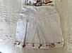 Летний костюм для девочки в белом цвете с принтом, фото 2