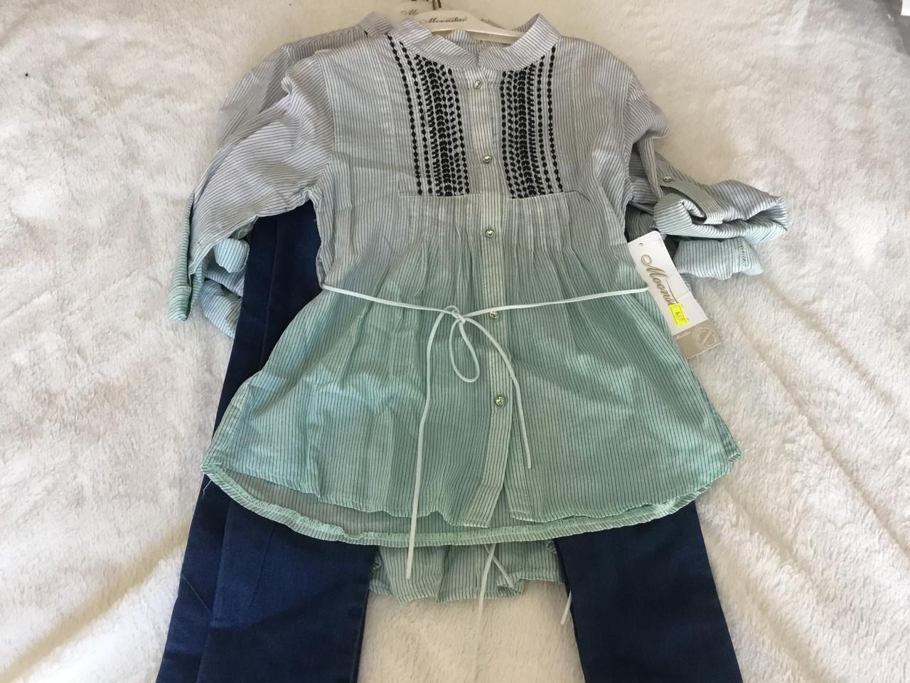 Костюм для девочки. Рубашка и джинсы