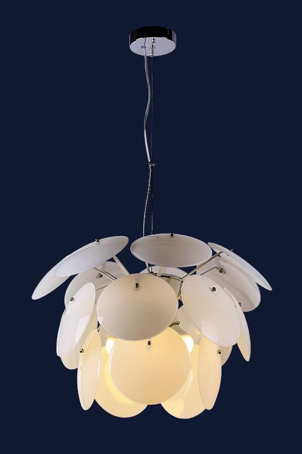 Белая подвесная люстра на 5 ламп 752127-5 WH+WH