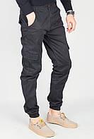 Брюки с карманами мужские 683K002 (Черный)