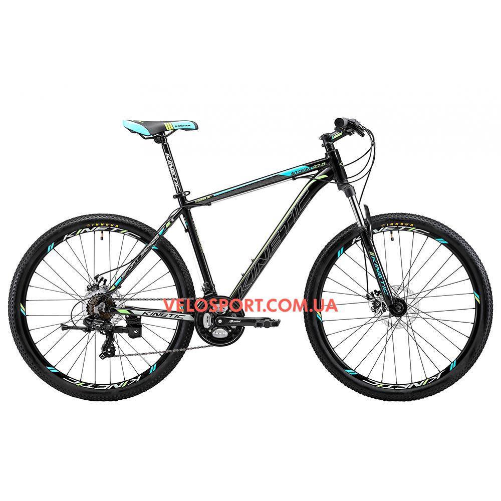 """Горный велосипед Kinetic Storm 27.5 дюймов 21"""" черно-голубой"""