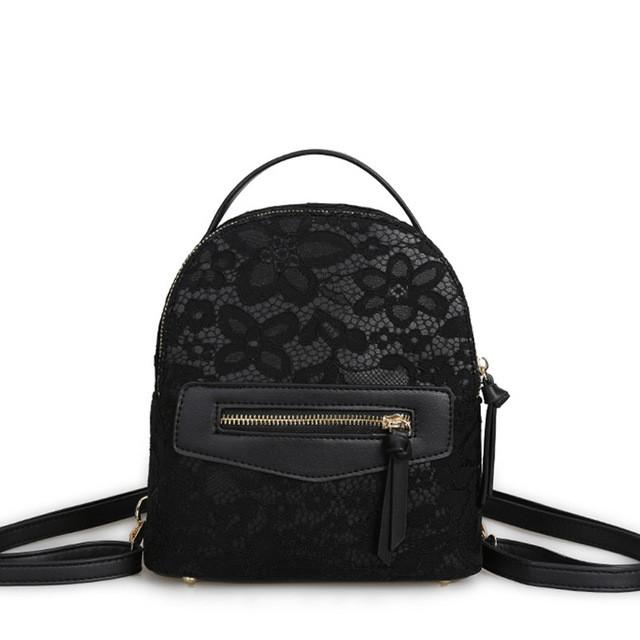 0ef714a65f77 Рюкзак сумка женский с кружевной отделкой (черный): продажа, цена в ...