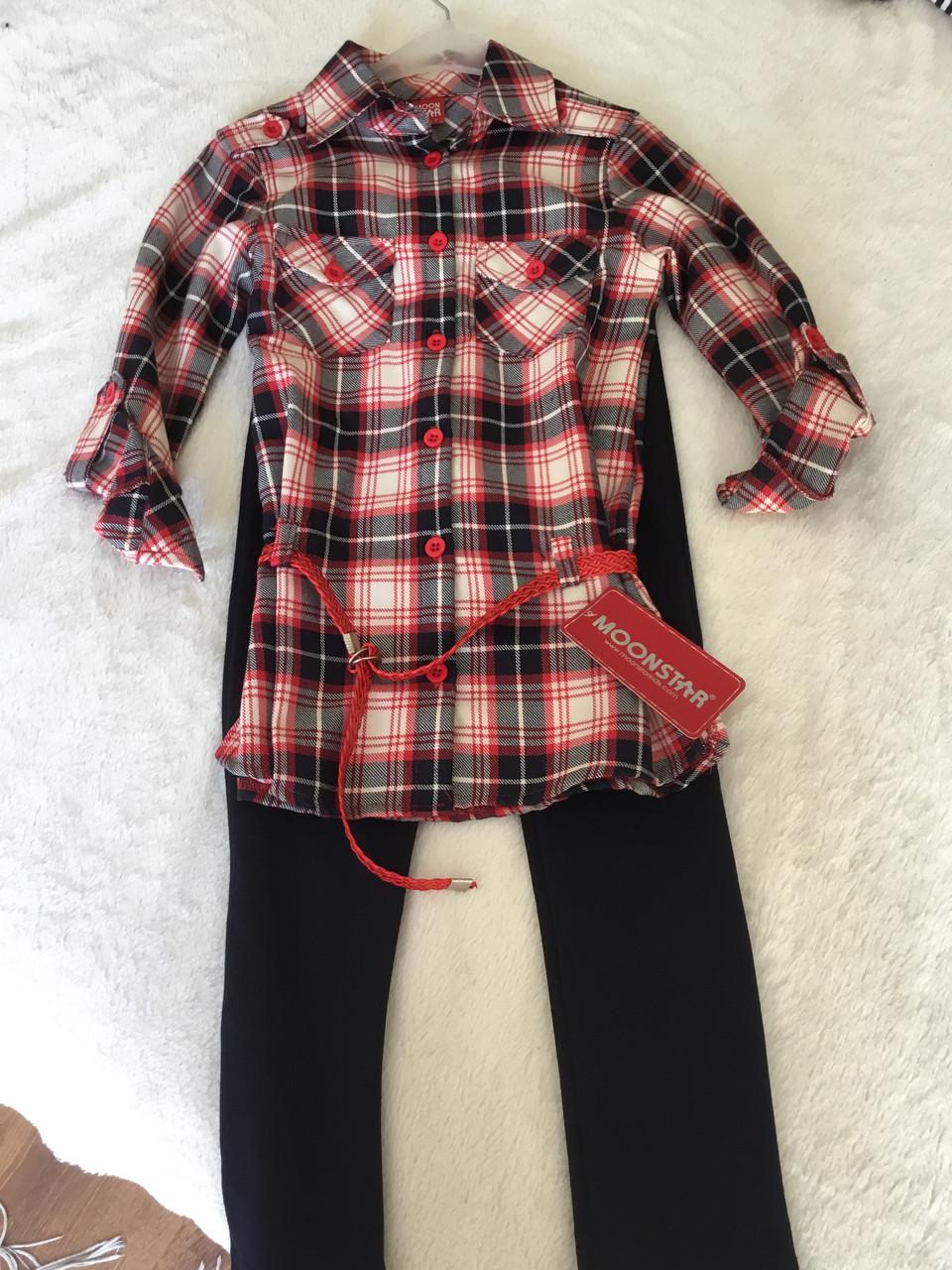 Костюм для девочки. Рубашка и леггинсы