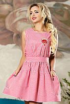 Женское летнее расклешенное платье из хлопка (2164-2178-2179 svt), фото 3